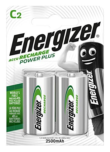 Energizer E300321800 - NiMH Akkumulator Power Plus, C / Baby / 2500 mAh 2er Pack