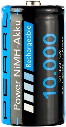 PEARL NiMH-Akku Monozelle Typ D 10000 mAh