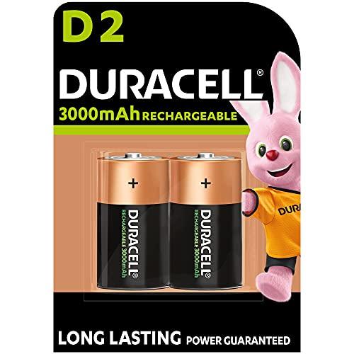 Duracell Akku D (HR20) 3000 mAh  2er (wiederaufladbare Batterie)