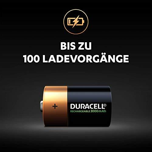 Duracell Akku D (HR20) 3000 mAh  2er (wiederaufladbare Batterie) - 2