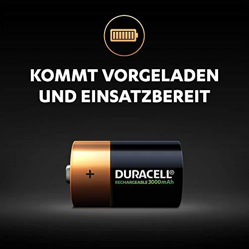 Duracell Akku D (HR20) 3000 mAh  2er (wiederaufladbare Batterie) - 3