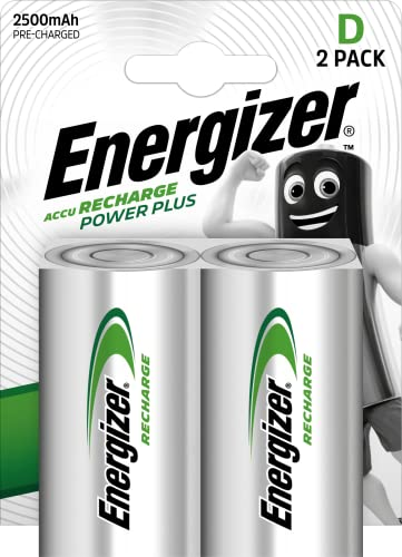 Energizer E300322000 - NiMH Akkumulator Power Plus, D /Mono / 2500 mAh 2er Pack