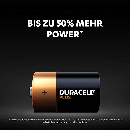 Duracell Plus Power Alkaline Batterien D (MN1300/LR20) 4er Pack - 2
