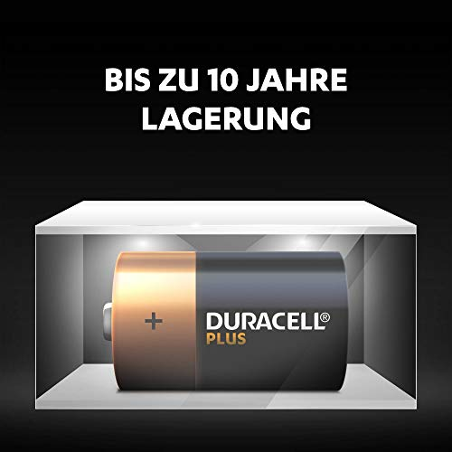 Duracell Plus Power Alkaline Batterien D (MN1300/LR20) 4er Pack - 5