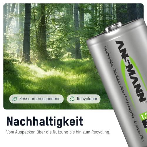 ANSMANN maxE Baby C Akku 2500mAh (4er Pack) vorgeladene ready2use NiMH Power Akkubatterie Babyzelle mit geringer Selbstentladung - 4