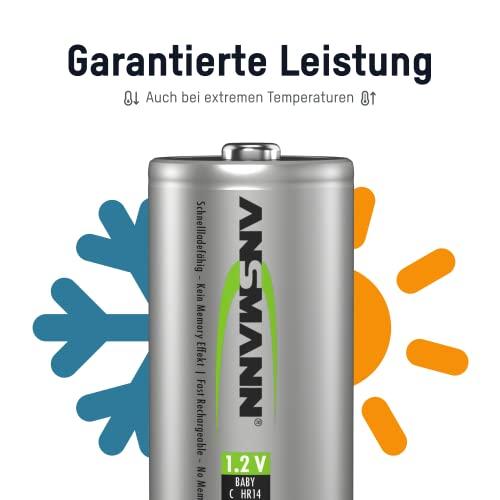ANSMANN maxE Baby C Akku 2500mAh (6er Pack) vorgeladene ready2use NiMH Power Akkubatterie Babyzelle mit geringer Selbstentladung - 5