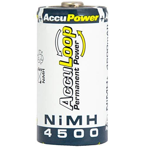 AccuPower AL4500-2 Ni-MH C/Baby/LR14 Akku (4500mAh, 2-er Pack) - 2
