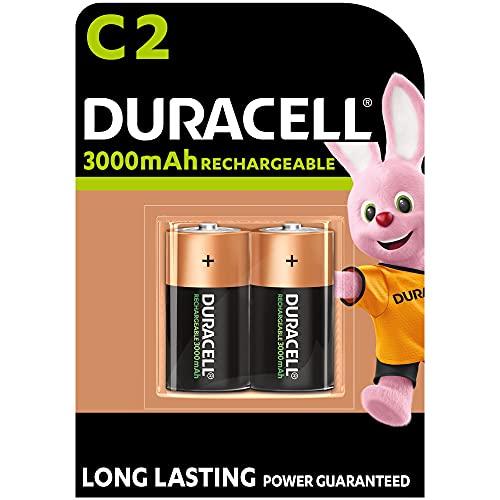 Duracell Akku C (HR14) 2.200 mAh 2er (wiederaufladbare Batterie)