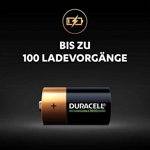 Duracell Akku C (HR14) 2.200 mAh 2er (wiederaufladbare Batterie) - 2