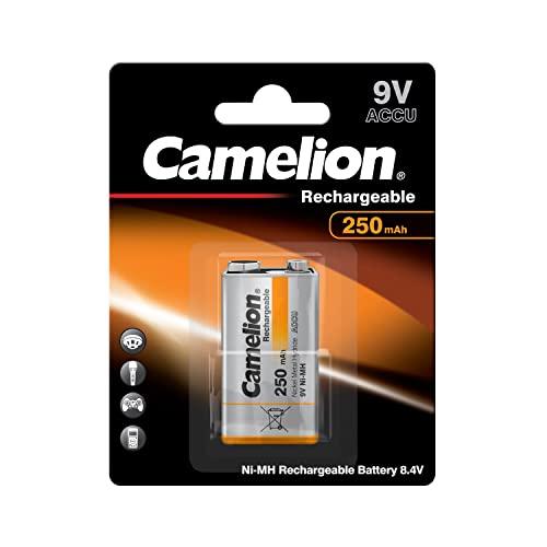 Camelion 17025122 Akku (NiMH, 9 Volt Block, 250 mAh, 1er)