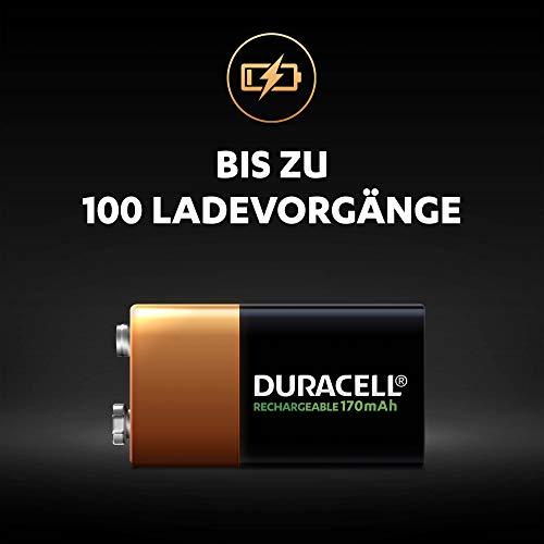 Duracell Akku 9V (HR22) 170 mAh 1er (wiederaufladbare Batterie) - 3