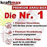 Kraftmax 8er-Kombipack Panasonic Eneloop Akkus – 4 Mignon AA , 4 Micro AAA Akku Batterien in Kraftmax Akkuboxen – Neueste Version - 7