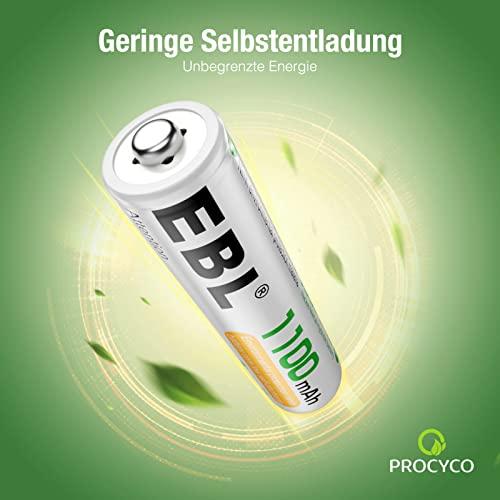 EBL 16 Stück 1100mAh hohe Kapazität AAA Ni-MH wieder aufladbare Batterien - 3