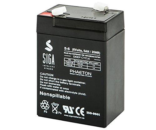 Akku 6V 5Ah AGM Blei Gel Batterie Johnlite Aroma Famosa Feber Sealake 4,5Ah 4Ah 6V Halogenlampe