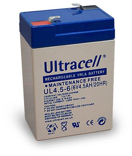 2x Wentronic Blei-Akku (Ultracell) 6 V, 4,5 Ah (Faston 187-4,8mm )