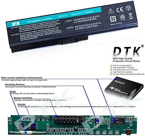 Dtk® Ultra Hochleistung Notebook Laptop Batterie Li-ion Akku für Toshiba PA3817U-1BRS PA3819U-1BRS Satellite C600 C655 C675 A660 A665 L600 L630 L635 L640 L645 L650 L655 L655d L670 L675 L700 L730 L735 L740 L745 L750 L750d L770 L775 L775d M640 M645 P740 P745 P750 P770 P775 Series – 12 Months Warranty [Li-ion 6-cell 10.8V 4400mah/48wh] Notebook battery - 2