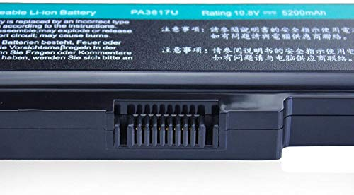 Dtk® Ultra Hochleistung Notebook Laptop Batterie Li-ion Akku für Toshiba PA3817U-1BRS PA3819U-1BRS Satellite C600 C655 C675 A660 A665 L600 L630 L635 L640 L645 L650 L655 L655d L670 L675 L700 L730 L735 L740 L745 L750 L750d L770 L775 L775d M640 M645 P740 P745 P750 P770 P775 Series – 12 Months Warranty [Li-ion 6-cell 10.8V 4400mah/48wh] Notebook battery - 3