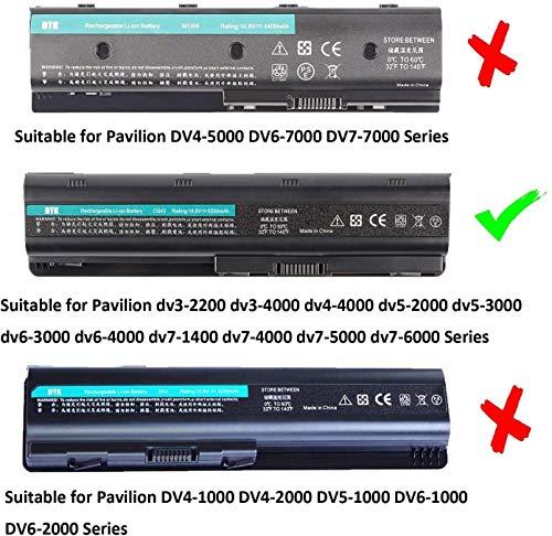 Dtk® Ultra Hochleistung Notebook Laptop Batterie Li-ion Akku for Hp COMPAQ G32 G42 G42t G56 G62 G72 G4 G6 G6t G7 ; Hp Presario Cq32 Cq42 Cq43 Cq430 Cq56 Cq62 Cq630 Cq72 ; Envy 15 , Envy17 ; Hp Pavilion Dm4 Dv3-4000 Dv5-2000 Dv6-3000 Dv6-6000 Dv7-4000 Dv7-6000 Series; 2000 430 431 435 436 630 631 635 636 Notebook Pc Fits Mu06 Mu09 593553-001 593554-001 Wd548aa Wd549aa Wd548aa Hstnn-lb0w 636631-001 593550-001 Notebook Battery 6-Zellen [10.8v 5200mah] - 3