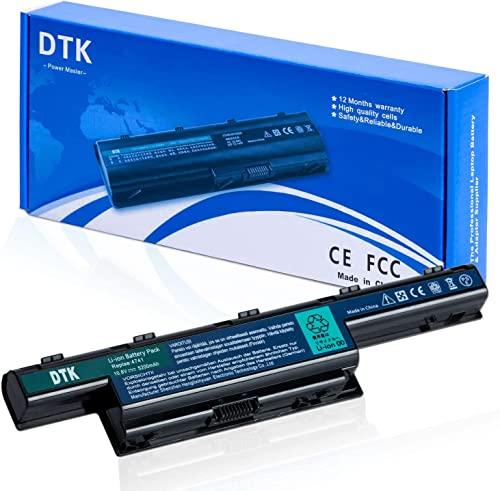 DTK® Ultra Hochleistung Notebook Laptop Batterie Li-ion Akku für Acer Aspire 4250, 4253, 4551, 4552, 4738, 4741, 4750, 4752,4771, 5251, 5253,5336, 5551, 5552, 5560, 5733, 5741, 5742, 5750,5755,5736,7741, 7551, 7552,7750, 7560, AS5741 Series, Travelmate 4740,4750,5335,5542,5735,5740,5742,5760,7740,7750 Fits P/N: AS10D,AS10D31.AS10D41,AS10D51,AS10D61,AS10D71,AS10D73,AS10D75 12 Monate Garantie [Li-ion, 11.1V 5200MAH/6-cell]