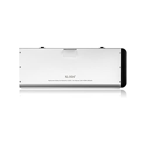 "SLODA Laptop Ersatz Akku für Apple Macbook 13"" A1278 A1280 Macbook 13 Zoll Aluminium-Unibody Replacement Batterie MB466CH / A / MB466D / A Series (2008 Version)[10.8V, 5000mAh]"