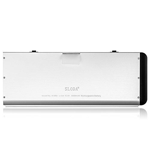 """SLODA Laptop Ersatz Akku für Apple Macbook 13"""" A1278 A1280 Macbook 13 Zoll Aluminium-Unibody Replacement Batterie MB466CH / A / MB466D / A Series (2008 Version)[10.8V, 5000mAh]"""
