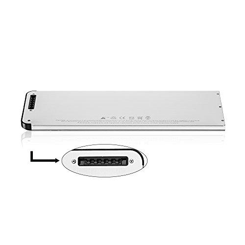 SLODA Laptop Ersatz Akku für Apple Macbook 13″ A1278 A1280 Macbook 13 Zoll Aluminium-Unibody Replacement Batterie MB466CH / A / MB466D / A Series (2008 Version)[10.8V, 5000mAh] - 3