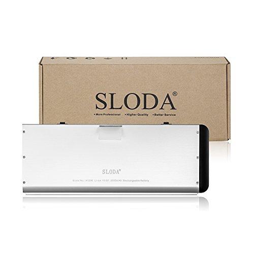 SLODA Laptop Ersatz Akku für Apple Macbook 13″ A1278 A1280 Macbook 13 Zoll Aluminium-Unibody Replacement Batterie MB466CH / A / MB466D / A Series (2008 Version)[10.8V, 5000mAh] - 5