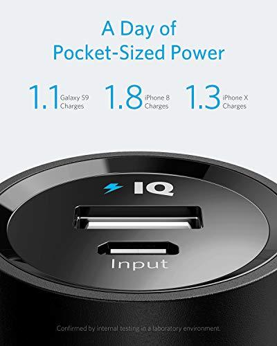 Anker PowerCore 5000mAh Externer Akku Powerbank Batterie Extra Kompakt Slim Handy Ladegerät mit Power IQ für iPhone 7 7+ 6s 6 Plus SE, iPad, Samsung Galaxy und Weitere Smartphone (Schwarz) - 3