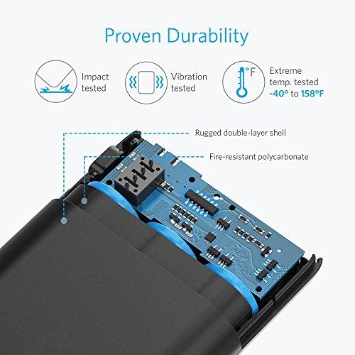 Anker PowerCore 10000mAh externer Akku, die kleinere und leichtere Powerbank, extra kompakt für iPhone, Samsung Galaxy und weitere Smartphones - 6