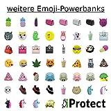 iProtect Emoji-Powerbank 2000mAh Externes Ladegerät im Unicorn-Emoji-Design in Lila für Smartphones und andere Geräte mit USB-Anschluss – inklusive Micro USB-Ladekabel - 8