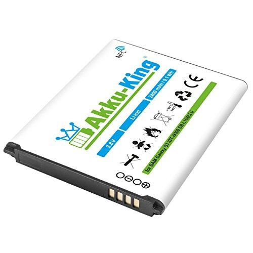 Akku-King Li-Ion Akku (2400mAh) für Samsung Galaxy S3 GT-I9300/S3 i9301 Neo/S3 LTE GT-i9305 mit NFC