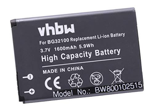 vhbw Li-Ion Akku 1600mAh (3.7V) für Handy Telefon Smartphone HTC Desire S, PG88100, S510, S510E, Saga, Google G12 ersetzt BA S530, BG32100.