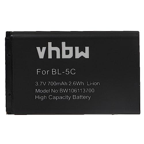 vhbw Li-Ion Akku für Handy Smartphone Geemarc CL8200, CL8300, CL8350, CL8400, Olympia Komfort Mobiltelefone CARO, Swissvoice MP22 wie Nokia BL-5C.