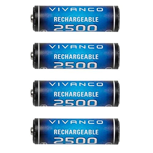 Vivanco RC NIMH AA2500-4 Akku (4 Stück, 2500mAh) kit