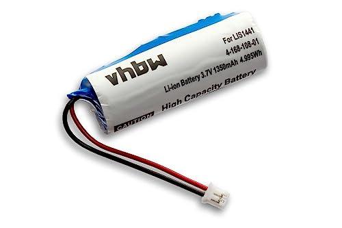vhbw Li-Ion Akku 1350mAh (3.7V) für Spielekonsole Sony Playstation Move Motion Controller, CECH-ZCM1E, PS3 Move wie LIS1441, LIP1450, 4-168-108-1.