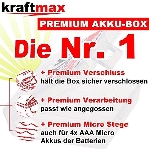Kraftmax 8er-Pack Panasonic Eneloop PRO XX Akkus – 4x Mignon AA + 4x Micro AAA – Neueste Generation – Hochleistungs Akku Batterien in Kraftmax Akkuboxen V5 - 2