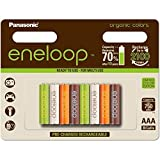 Panasonic eneloop Organic, Ready-to-Use Ni-MH Akku, AAA Micro, 8er Pack, min. 750 mAh, 2100 Ladezyklen, geringe Selbstentladung
