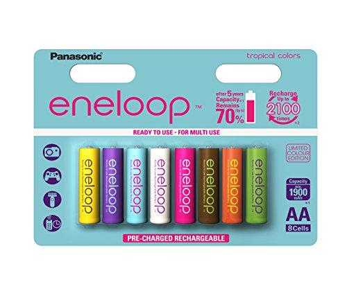 Panasonic eneloop AA Mignon limitierte Tropical Edition Akku (8er Pack, 1900mAh)