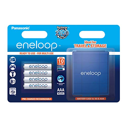 Panasonic eneloop AAA Ready-to-Use Micro NI-MH Akku BK-4MCCEC4BE (750 mAh, 4er Pack inkl. Box) -