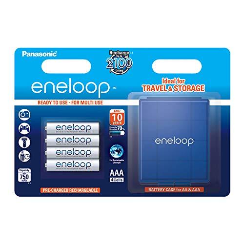 Panasonic eneloop AAA Ready-to-Use Micro NI-MH Akku BK-4MCCEC4BE (750 mAh, 4er Pack inkl. Box) -
