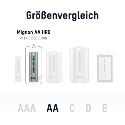 ANSMANN Mignon AA Akku 2500mAh maxE geringe Selbstentladung NiMH vorgeladene Akkubatterie (16er Pack) - 2
