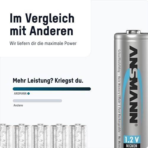 ANSMANN Mignon AA Akku 2500mAh maxE geringe Selbstentladung NiMH vorgeladene Akkubatterie (16er Pack) - 5