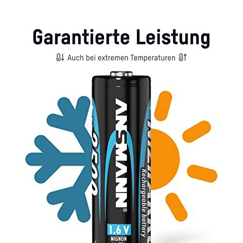 ANSMANN Mignon AA Akku Nickel-Zink (NiZn) 2500mWh/1,6V hohe Spannung – für batteriebetriebene Geräte (4er Pack) - 4