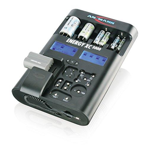 ANSMANN 5207452 Energy XC3000 Ladegerät Micro AAA Mignon AA Baby C Mono D 9V E-Block Akkupack Tester