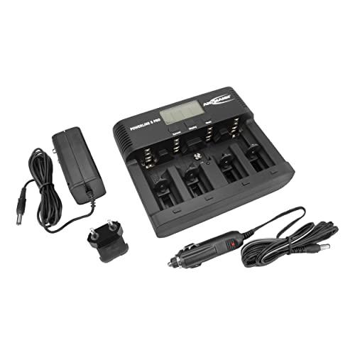 ANSMANN Powerline 5 Pro Akku Ladegerät für 1-4 AAA, AA, C, D NiMH/NiCd Akkus sowie 1 9V E-Block, USB-Port, Ladestrom einstellbar, Kapazitätsmessung, LCD - 5