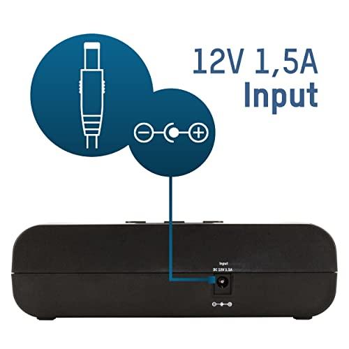 ANSMANN Powerline 5 Pro Akku Ladegerät für 1-4 AAA, AA, C, D NiMH/NiCd Akkus sowie 1 9V E-Block, USB-Port, Ladestrom einstellbar, Kapazitätsmessung, LCD - 3
