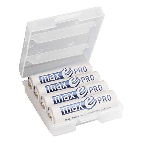 4x ANSMANN Akkubatterie maxE PRO Akku NEU mit noch mehr Power 2100 Zyklen, vorgeladen, sehr geringe Entladung + Akkubox - 8
