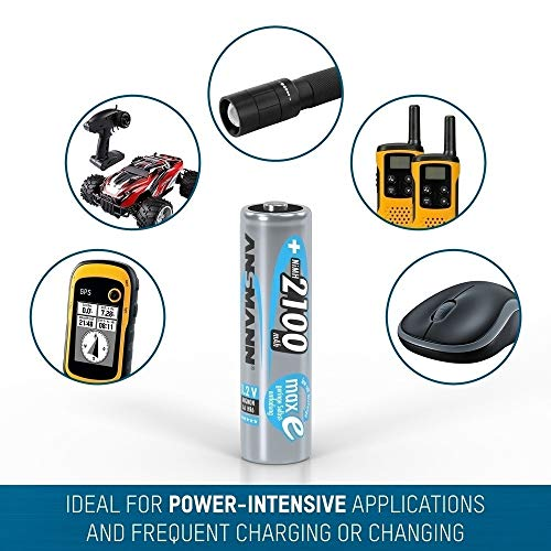 ANSMANN Mignon AA Akku 2100mAh maxE geringe Selbstentladung NiMH vorgeladene Akkubatterie (16er Pack) - 3