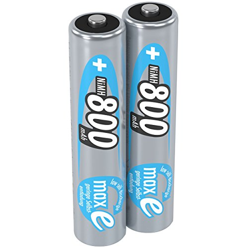 ANSMANN Micro AAA Akku 800mAh maxE geringe Selbstentladung NiMH vorgeladene Akkubatterie (2er Pack)