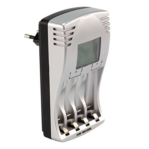 ANSMANN PhotoCam IV Akku-Ladegerät für Micro AAA/Mignon AA Akkus Steckerladegerät mit LCD-Anzeige + 4x AA Akkus 1300mAh - 3